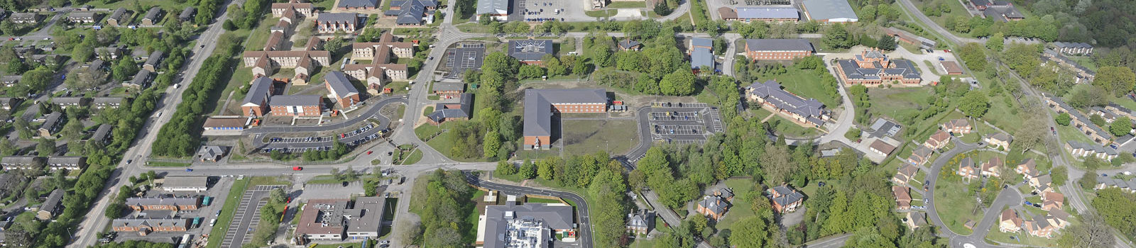 Aerial view of Garrison