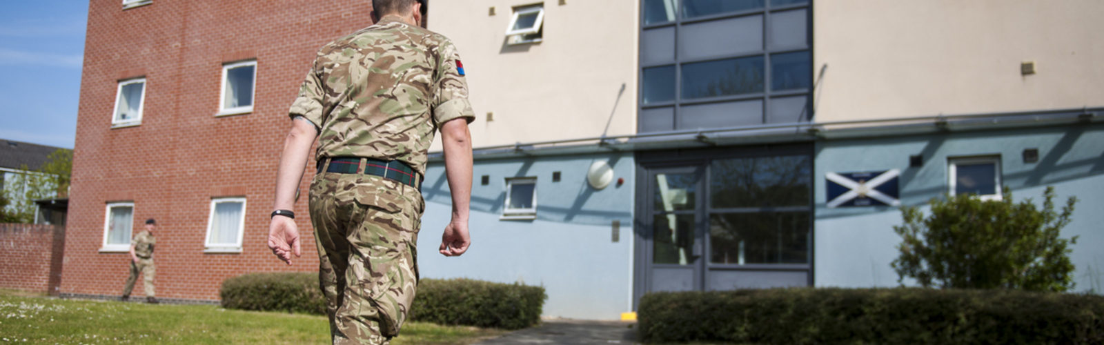 Soldier outside SLA