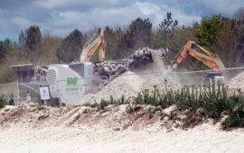 Excavator at Larkhill
