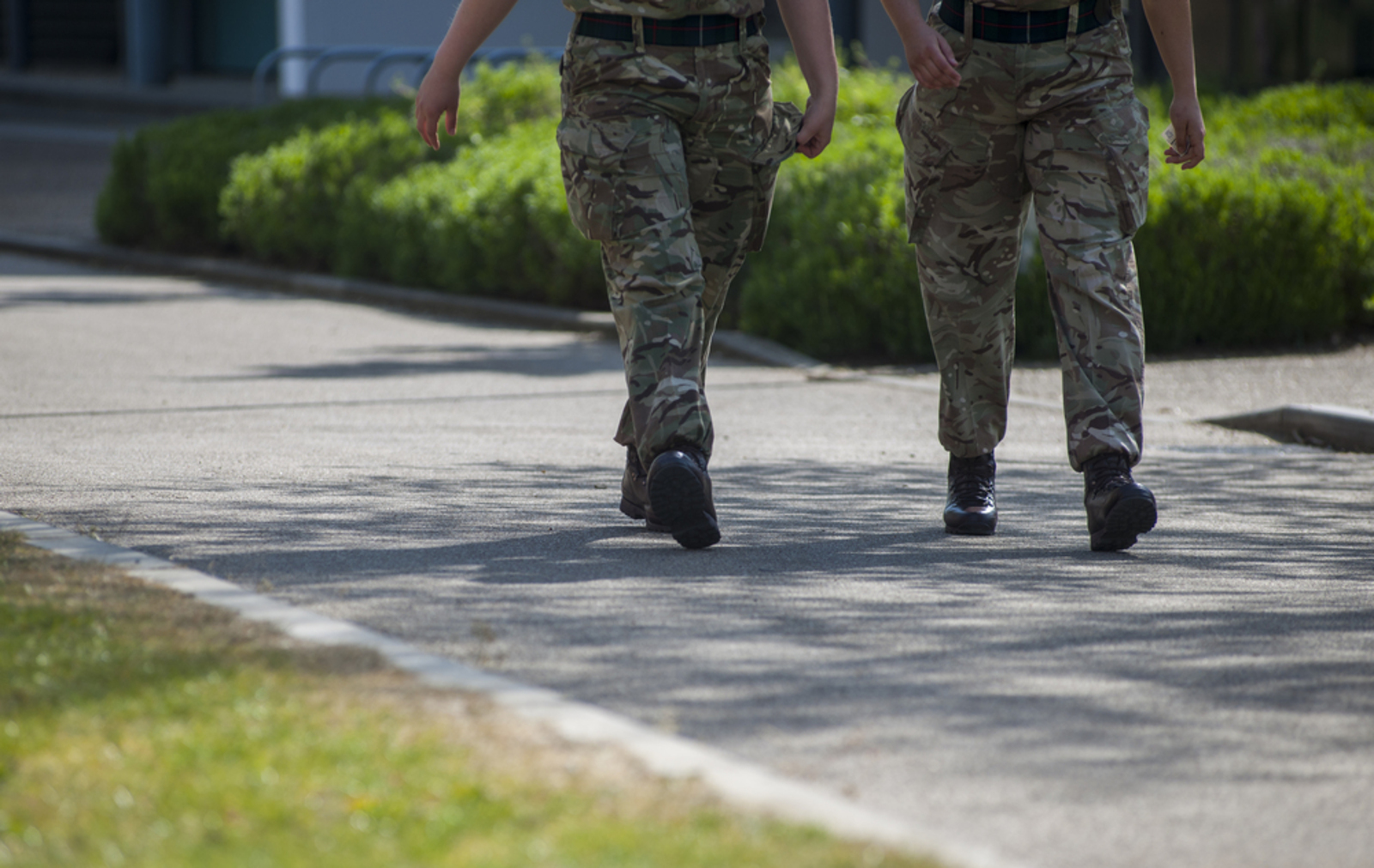 Soldiers walking