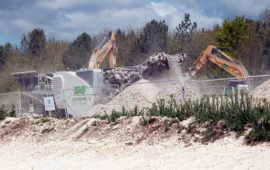 Excavator at Larkhill