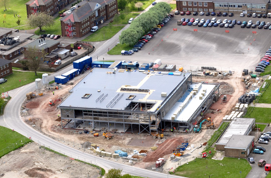 Work underway on the first building completed at Warminster Garrison under PAC - the new diner
