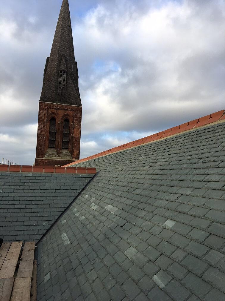 Aldershot Cathedral roof