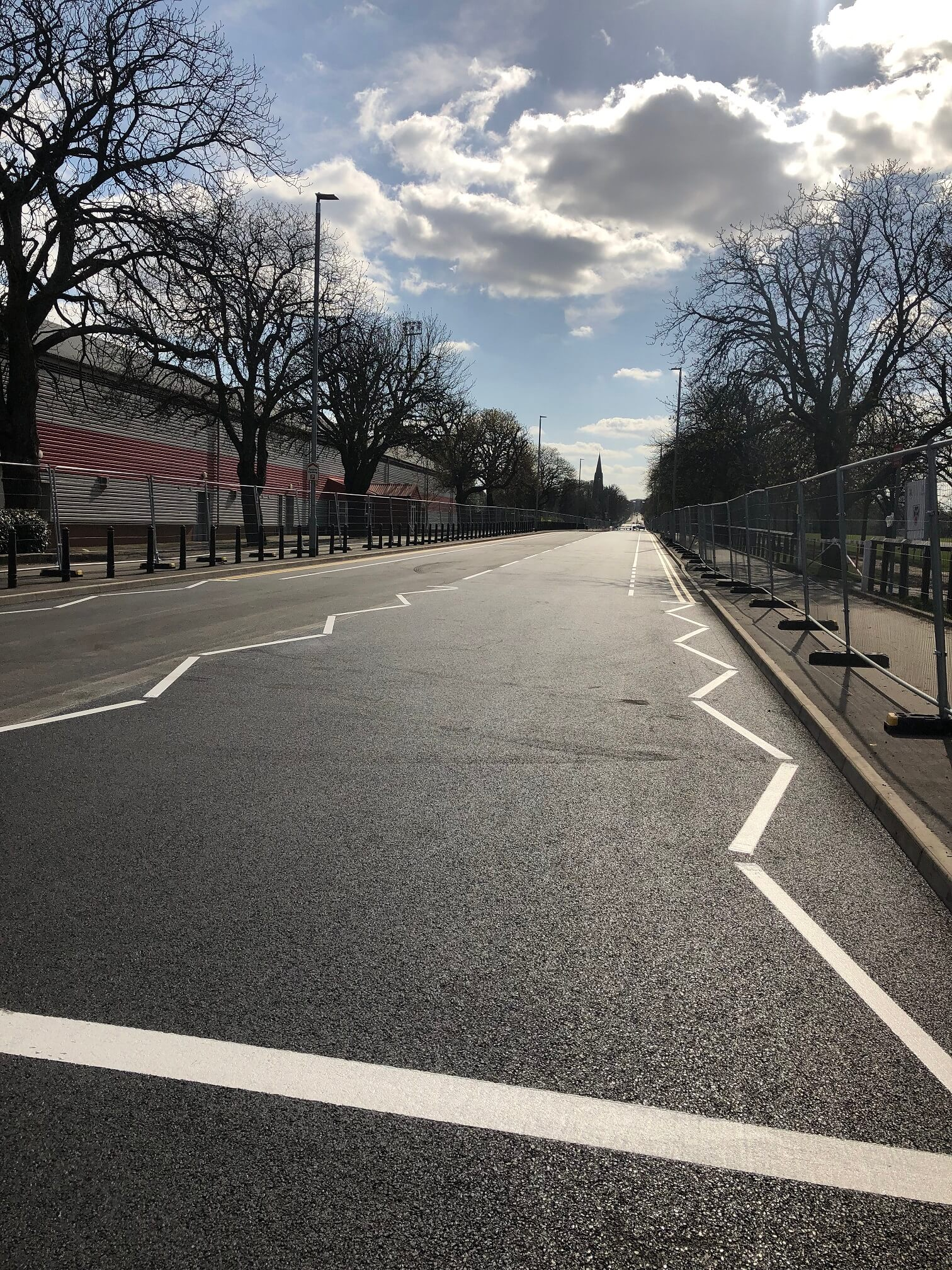 Queen's Avenue after resurfacing