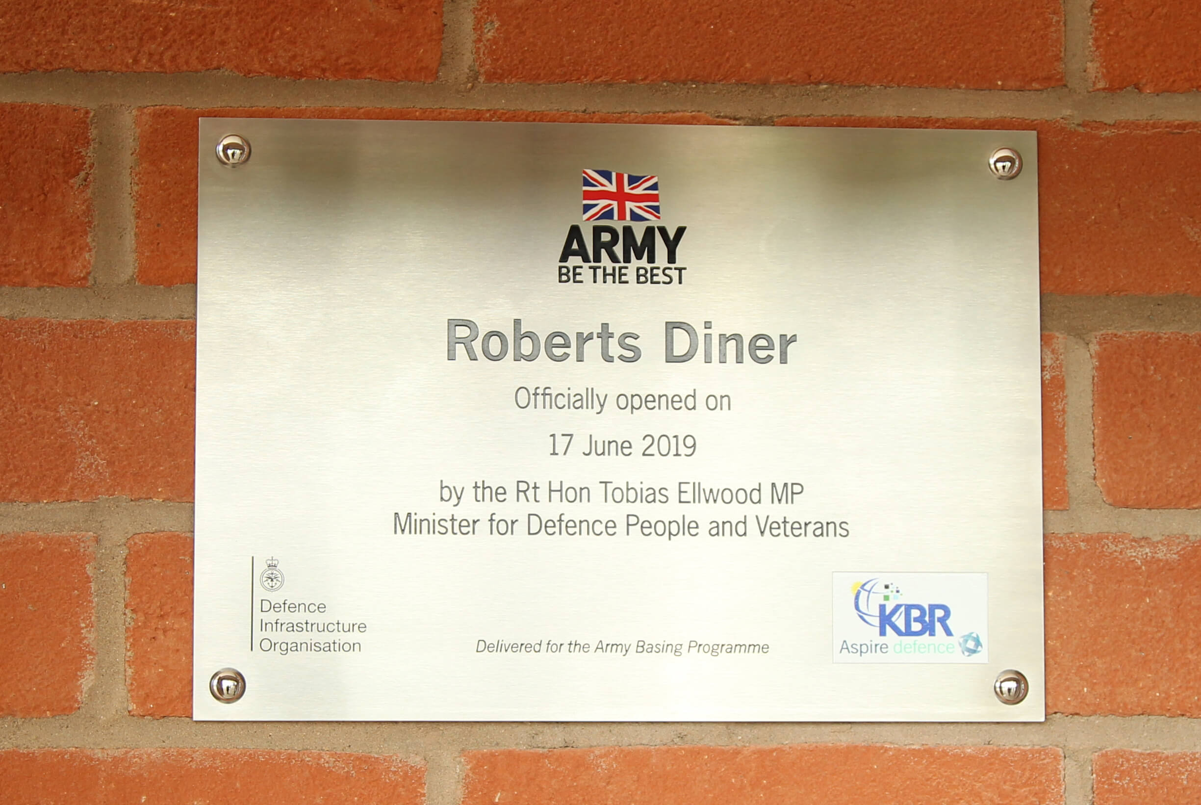 Roberts Diner Official Opening (Plaque)